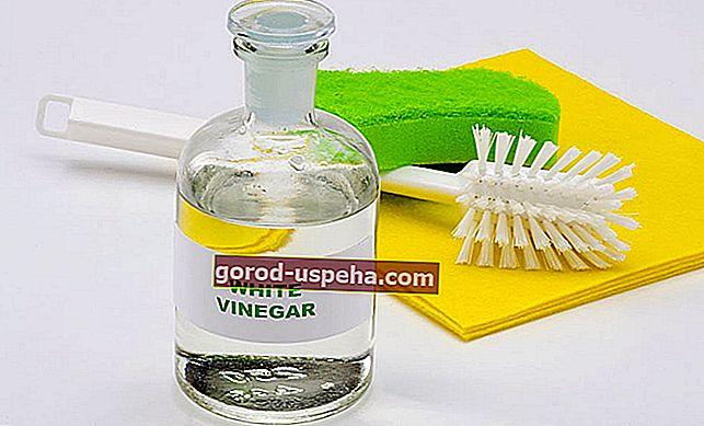 Используйте белый уксус, чтобы очистить все в ванной