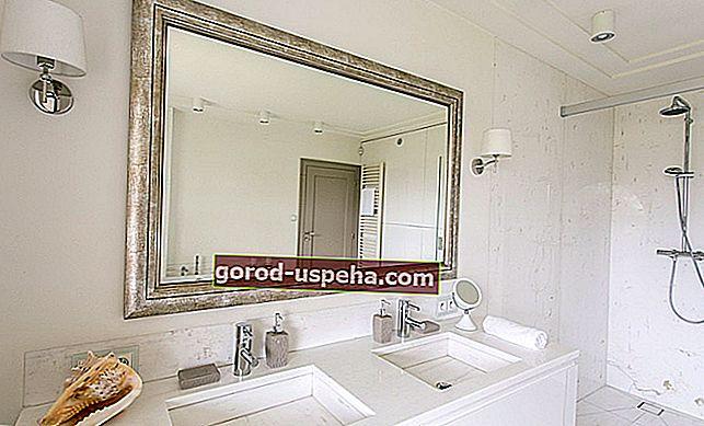 Kako objesiti teško zrcalo na zid?