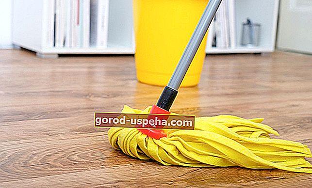 Očistite parket z naravnimi izdelki