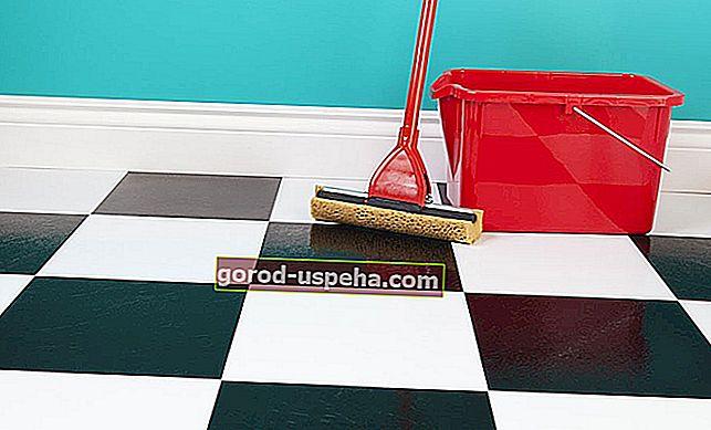 Pravilno vzdržujte tla iz linoleja